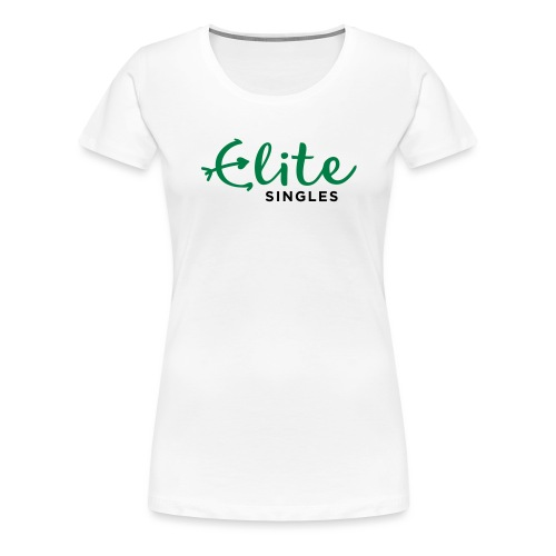 EliteSingles Logo EN Dark - Frauen Premium T-Shirt