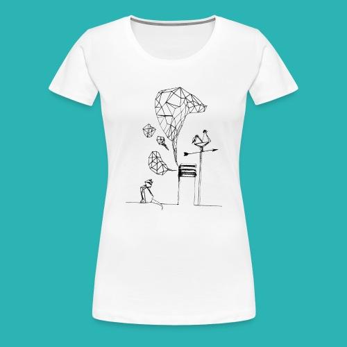 Carta_gatta-png - Maglietta Premium da donna
