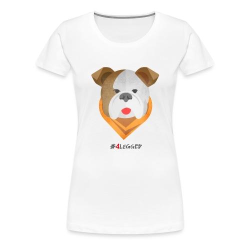 Bulldog - Maglietta Premium da donna
