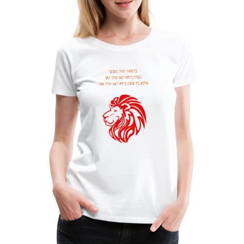Löwe mit aaronitischem Segen - Frauen Premium T-Shirt
