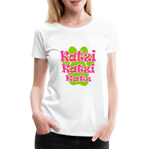 Katzi Katze Mieze Kätzchen Pfote - Frauen Premium T-Shirt