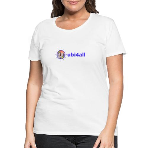 ubi4all mannetje horizontaal blauw trans - Vrouwen Premium T-shirt