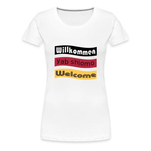 Willkommen-Asyl - Frauen Premium T-Shirt