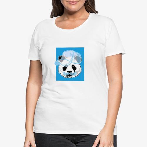 Panda - Cap - Mustache - Frauen Premium T-Shirt