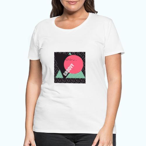 Groovy Retro Vintage - Women's Premium T-Shirt