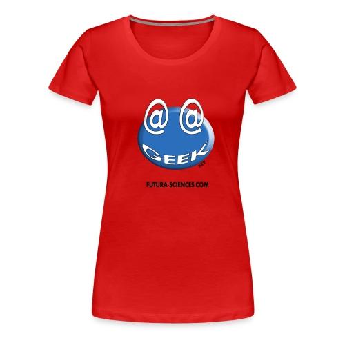 geek arobase bleu - T-shirt Premium Femme