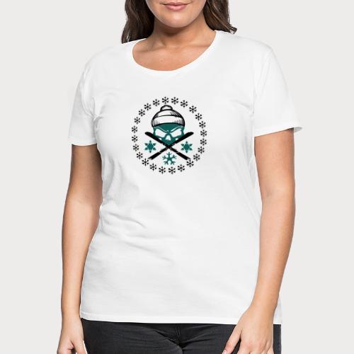 ski_skull - Frauen Premium T-Shirt