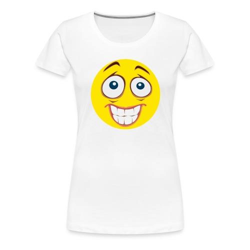 Gekke Smiley - Mannen - Vrouwen Premium T-shirt