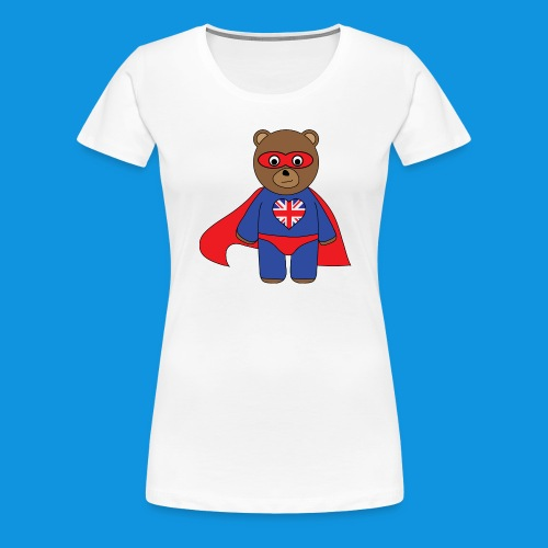 British Hero Bear tank - Women's Premium T-Shirt