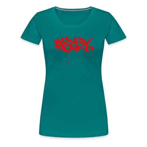 #EASY Graffiti Logo T-Shirt - Maglietta Premium da donna