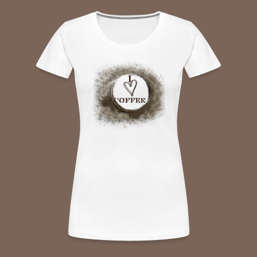 I Heart Coffee - Women's Premium T-Shirt