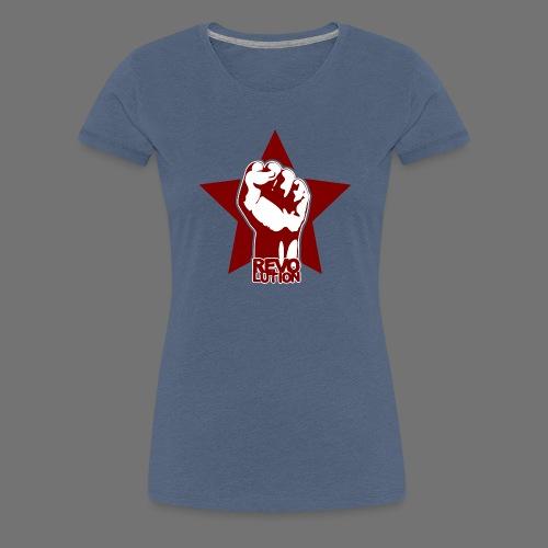 Vallankumous - Naisten premium t-paita