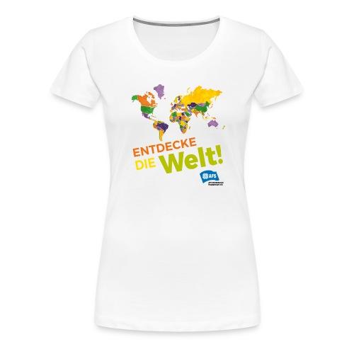 Entdecke die Vielfalt der Welt mit AFS - Frauen Premium T-Shirt