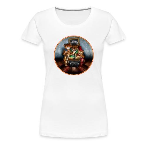 Bears watching TV - Women's Premium T-Shirt