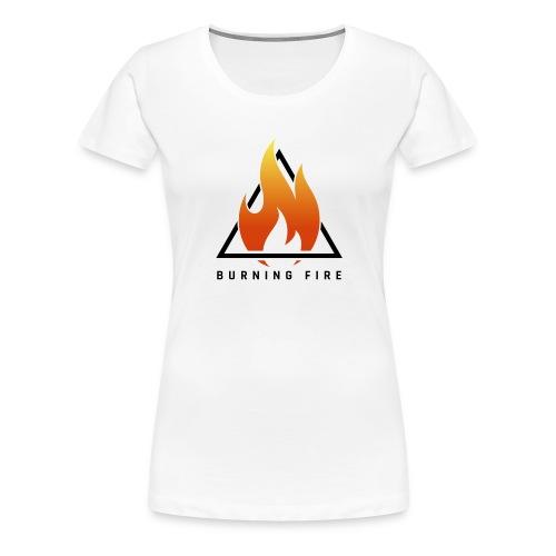 BURNING FIRE Logo - Dame premium T-shirt