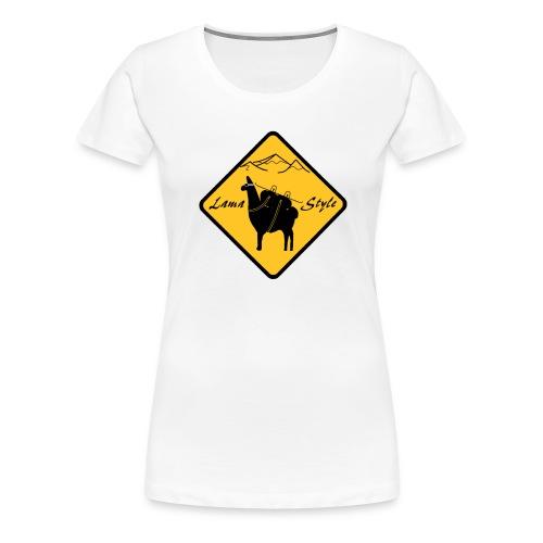 Lama Style snow - T-shirt Premium Femme