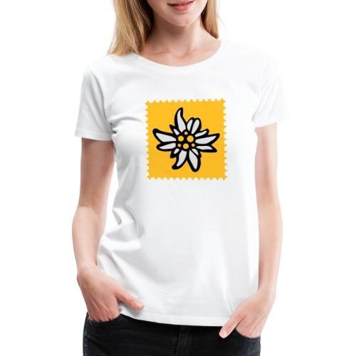Briefmarke Edelweiss - Frauen Premium T-Shirt