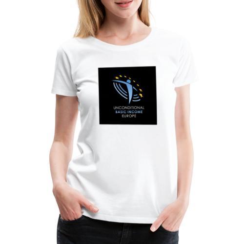 02 ubie on black centered square jpg - Vrouwen Premium T-shirt