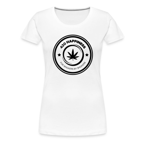 420_Happiness_logo - Dame premium T-shirt