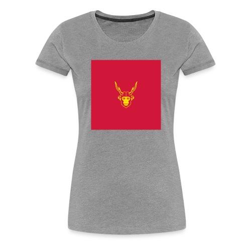 scimmiacervo sfondo rosso - Maglietta Premium da donna
