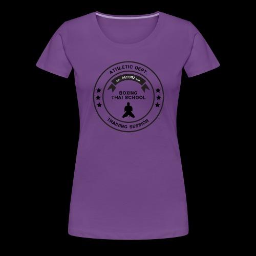 MTS92 BOXING THAI SCHOOL ROND - T-shirt Premium Femme