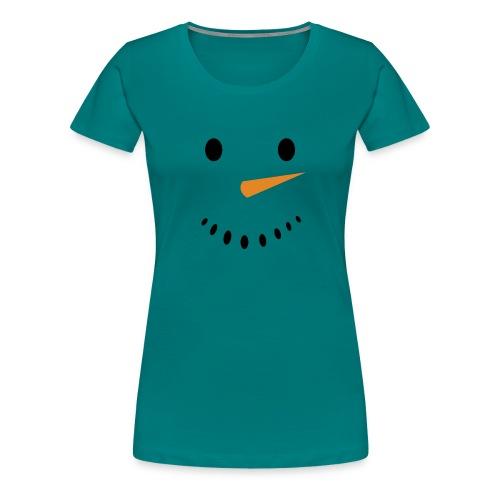 Bonhomme de neige Noël Hiver - T-shirt Premium Femme