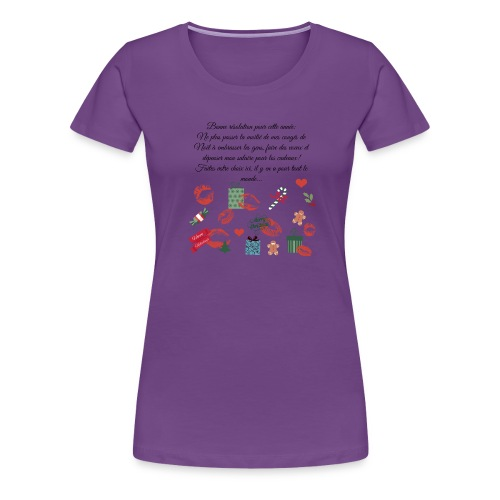 Bonne resolution Noël Nouvel An - T-shirt Premium Femme