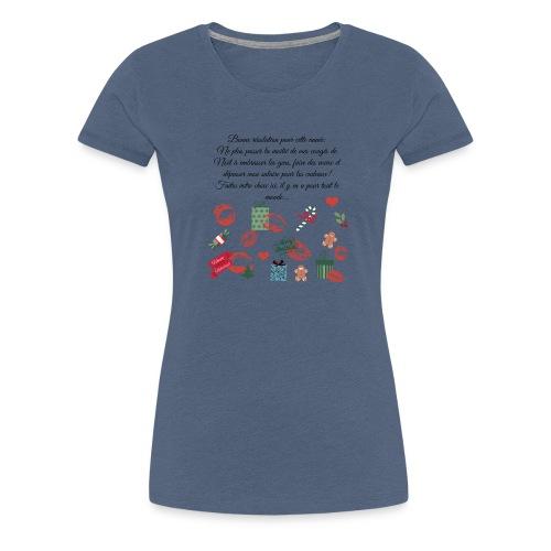 Bonne resolution Noël Nouvel An - T-shirt Premium Femme