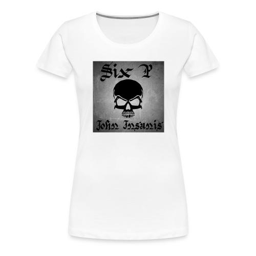 Harmaa skull Cap - Naisten premium t-paita