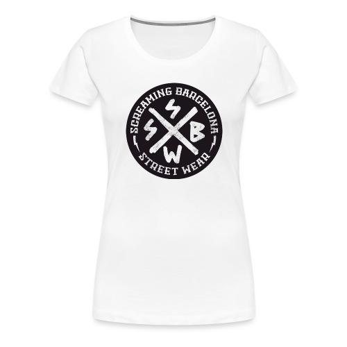 BASIC LOGO SWEATSHIRT BLACK - Camiseta premium mujer