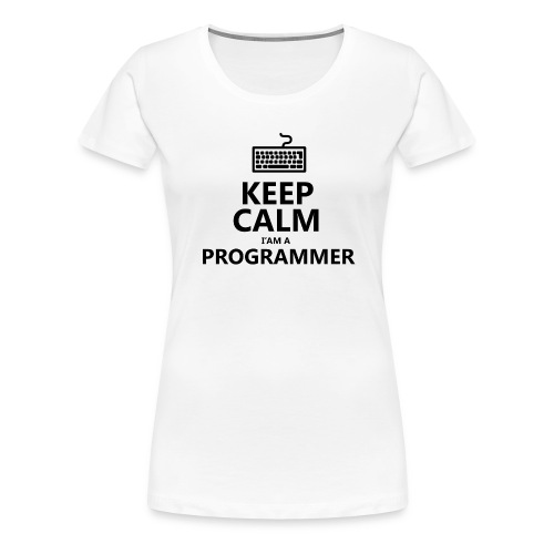 Keep calm programmer developer - Maglietta Premium da donna