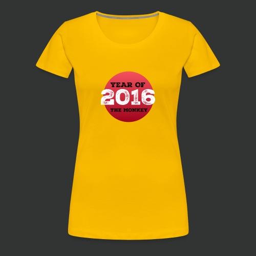 2016 year of the monkey - Women's Premium T-Shirt