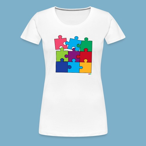 Puzzle Fun Motive - Frauen Premium T-Shirt