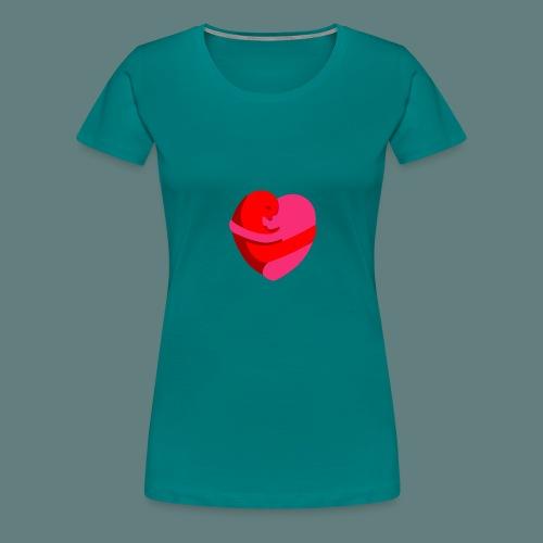 hearts hug - Maglietta Premium da donna