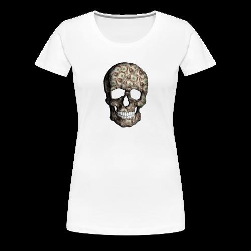 Skull Money Black - Camiseta premium mujer