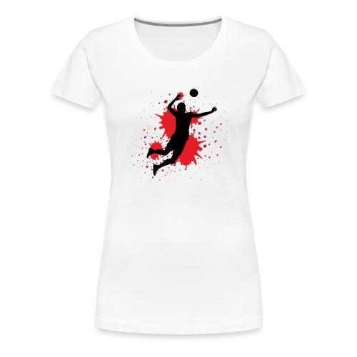 Handball Farbklecks - Frauen Premium T-Shirt