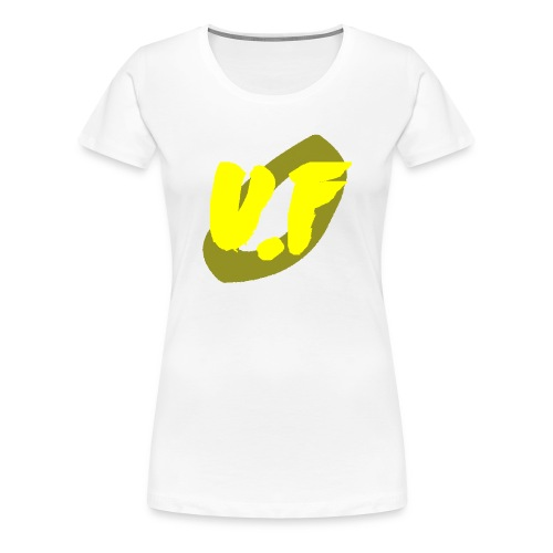 camiseta pico logo UF amarillo - Camiseta premium mujer