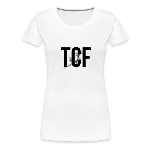 Cover i-phone 6/6plus scritta TCF nera - Maglietta Premium da donna