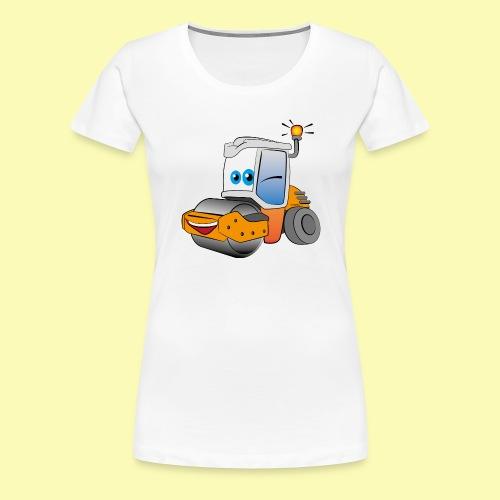 Baumaschine Straßenwalze Erdbau Bauarbeiter - Frauen Premium T-Shirt