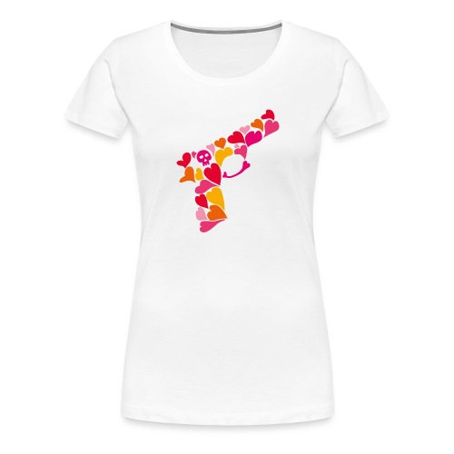 Lovegun - Premium-T-shirt dam