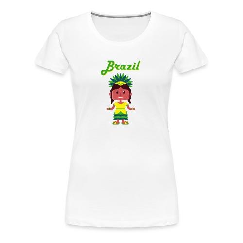 Brazil - Camiseta premium mujer