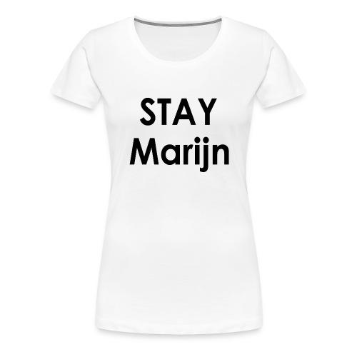 stay marijn black - Vrouwen Premium T-shirt
