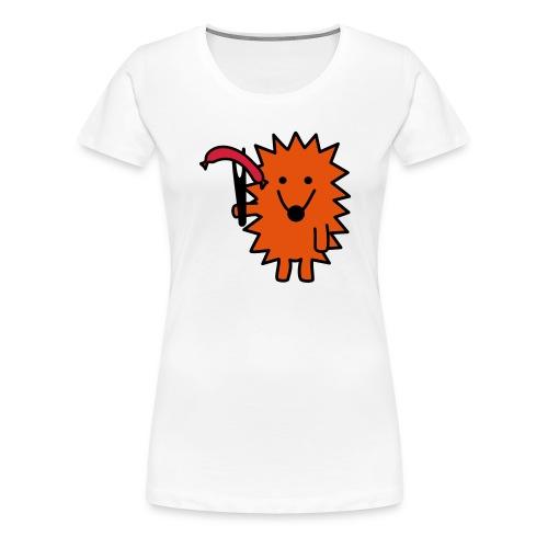 Grill-Igel - Frauen Premium T-Shirt