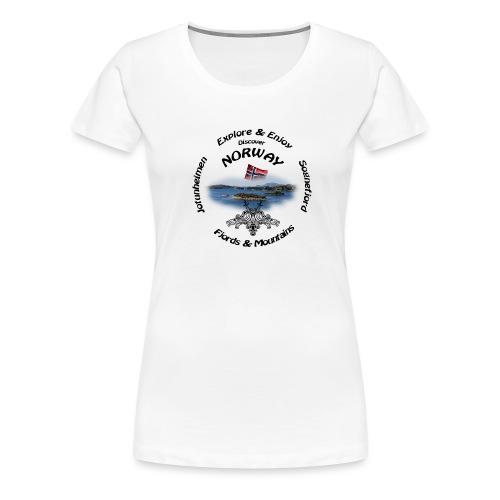 Norway t-shirt Black - Frauen Premium T-Shirt
