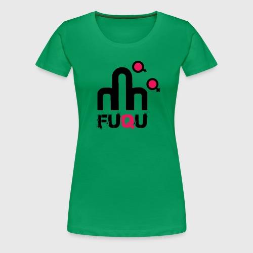 T-shirt FUQU logo colore nero - Maglietta Premium da donna