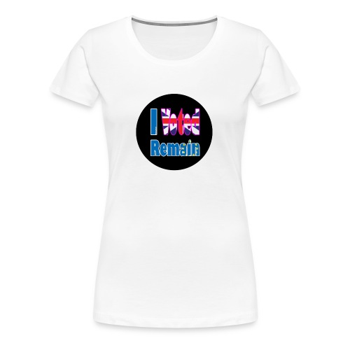 I Voted Remain badge EU Brexit referendum - Women's Premium T-Shirt