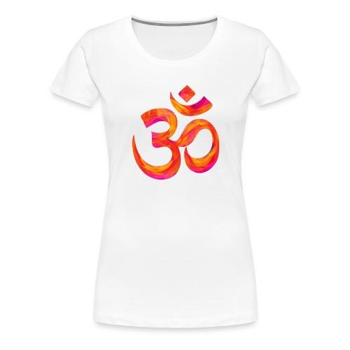 Symbole orange Chakra Om - T-shirt Premium Femme