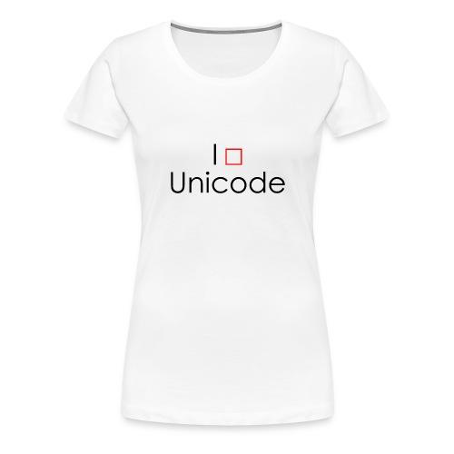 I love Unicode - Tasse - Frauen Premium T-Shirt