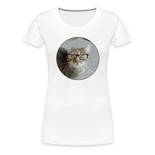 Hippe Katzentasche - Frauen Premium T-Shirt