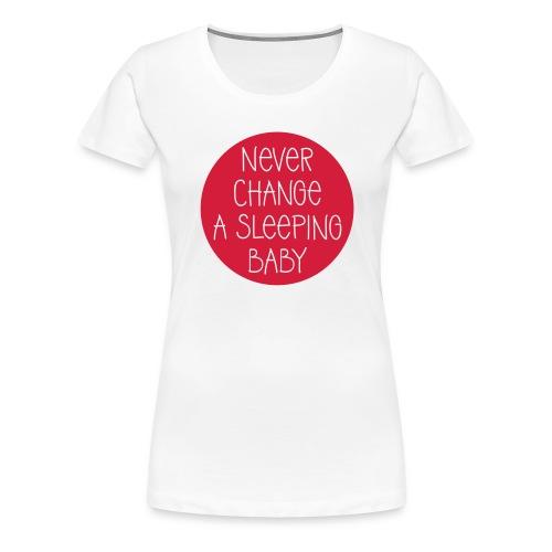 sleeping_baby_b_vektor - Frauen Premium T-Shirt